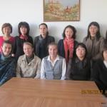 Коллектив кафедры с гостевым лектором из института языкознания РАН 2011