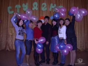 Студенты группы ПиМНО 22 (3лет) на Посвящении в студенты 2007 год