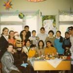Студенты и преподаватели факультета на праздновании Рождества 1997