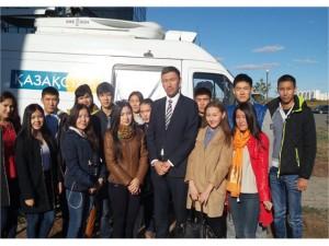 Студенты кафедры журналистики встретились журналистом телеканала «KazSPORT» Ермухамед Маулен
