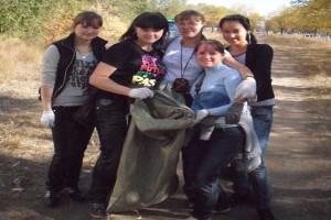 Студенты на субботнике, 2009 год