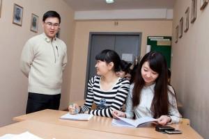 Студенты специальности Политология на занятии, 2008 год