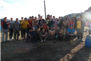 Студенты 1 курса исторического факультета на археологическом посвящении в 2013 году