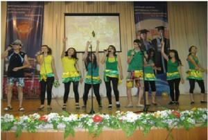 Студенческое посвящение-2011 года группы ИО-12 во Дворце студентов