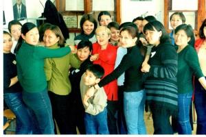 Тренинговое занятие группы специальности психология, 2001г.