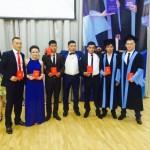 Выпускники  специальности Теплофизика после вручения дипломов, 2014 г