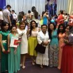 После церемонии вручения дипломов, 2014 г