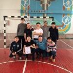 Студенты на спартакиаде по мини-футболу, посвященной 90-летию Е.А. Букетова, 2014-2015 уч.год (3 место)