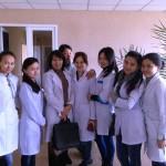 Студенты специальности ХТОВ на занятиях в АО «Сараньрезинотехника»